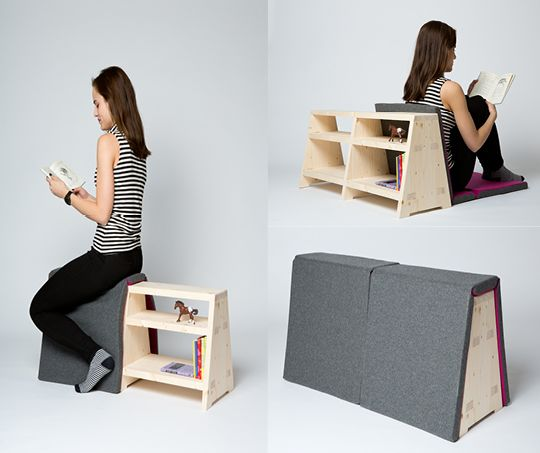 "Shelves, cover, sofa, decoration - multifunctional ""Fairy Tale Bench"" by Dominika Podolská"