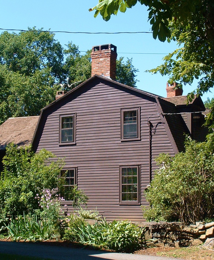 The oldest surviving house in Annapolis Royal, Nova Scotia is the deGannes-Cosby House on upper St George Street. This is a small colonial style house built with a gambrel roof and two chimneys. The house is notable for its remnants of wattle and daub, a clay wall infill used during the Acadian Period. This house was built in 1708 for Louis deGannes de Falaise, a French Major who was posted to the fort at Port Royal (Fort Anne) (text by Ryan Scranton).  Image by Rediscovering Canada