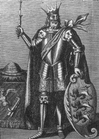 Brian Boru - The last High King of Ireland. As my great grandmother was Annie O'Brien, I am a descendant!   [I am also a descendant.. BKT]