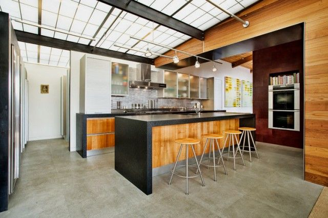 45 Cool Industrial Kitchen Designs That Inspire | DigsDigs  *Great link!