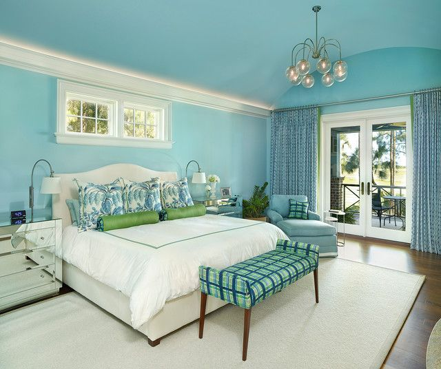 046 Transitional Bedroom 47 Master Suite Ideas Pinterest Aqua Blue Bedrooms And Colors