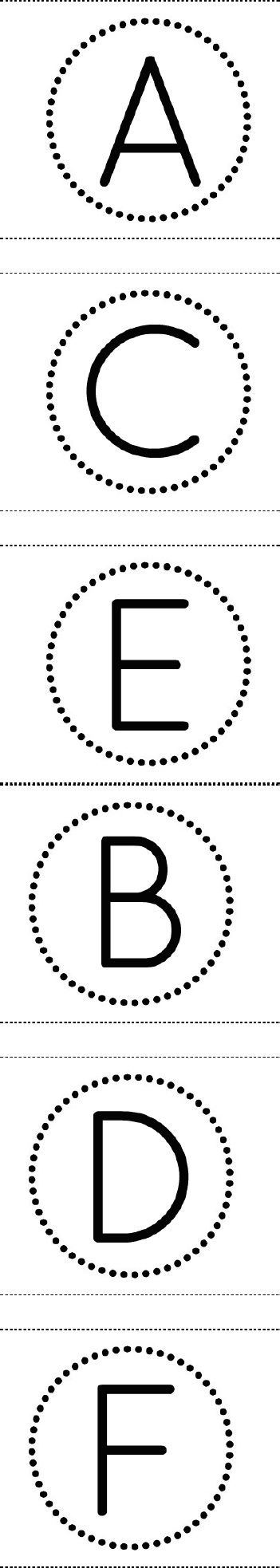 Free Printable Circle Banner Alphabet - for making birthday banners, signs, etc