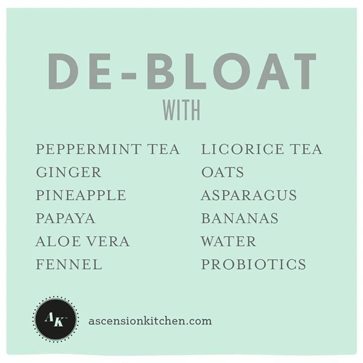 I always have bloating problems (lousy stomach!), and this list greatly helps me feel refreshed and healthy.