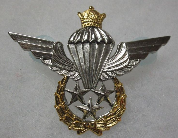 IRAN IRANIAN AIRBORNE PARATROOPER JUMP WINGS QUALIFICATION BADGE INSIGNIA
