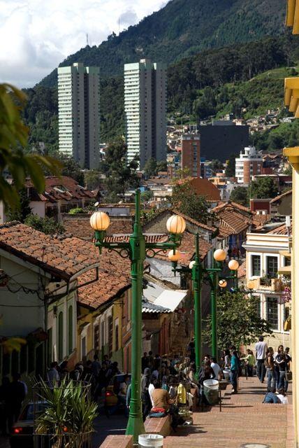 """""""La Candelaria"""" colonial district, Bogotá."""