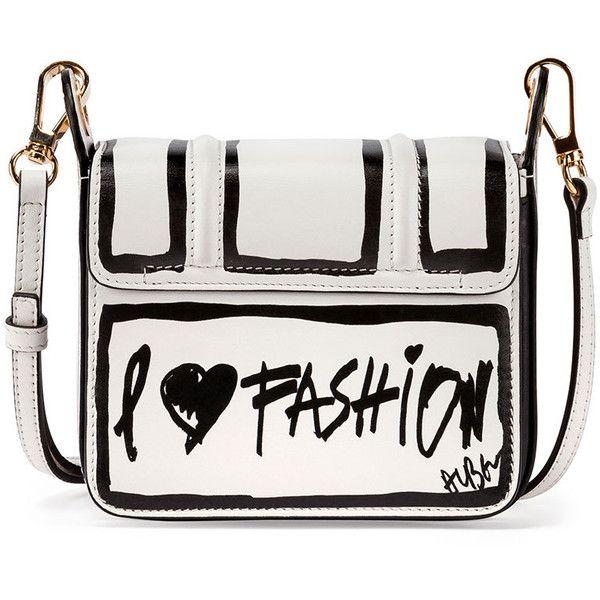 Lanvin Jiji Lanvin-Print Mini Shoulder Bag ($1,990) ❤ liked on Polyvore featuring bags, handbags, shoulder bags, man bag, purse shoulder bag, white leather purse, handbags shoulder bags and hand bags