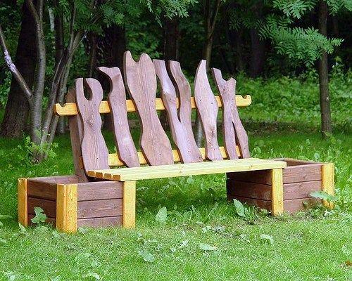 Идеи деревянных скамеек для дачи | Мой Милый Дом — идеи рукоделия, вязание, декорирование интерьеров