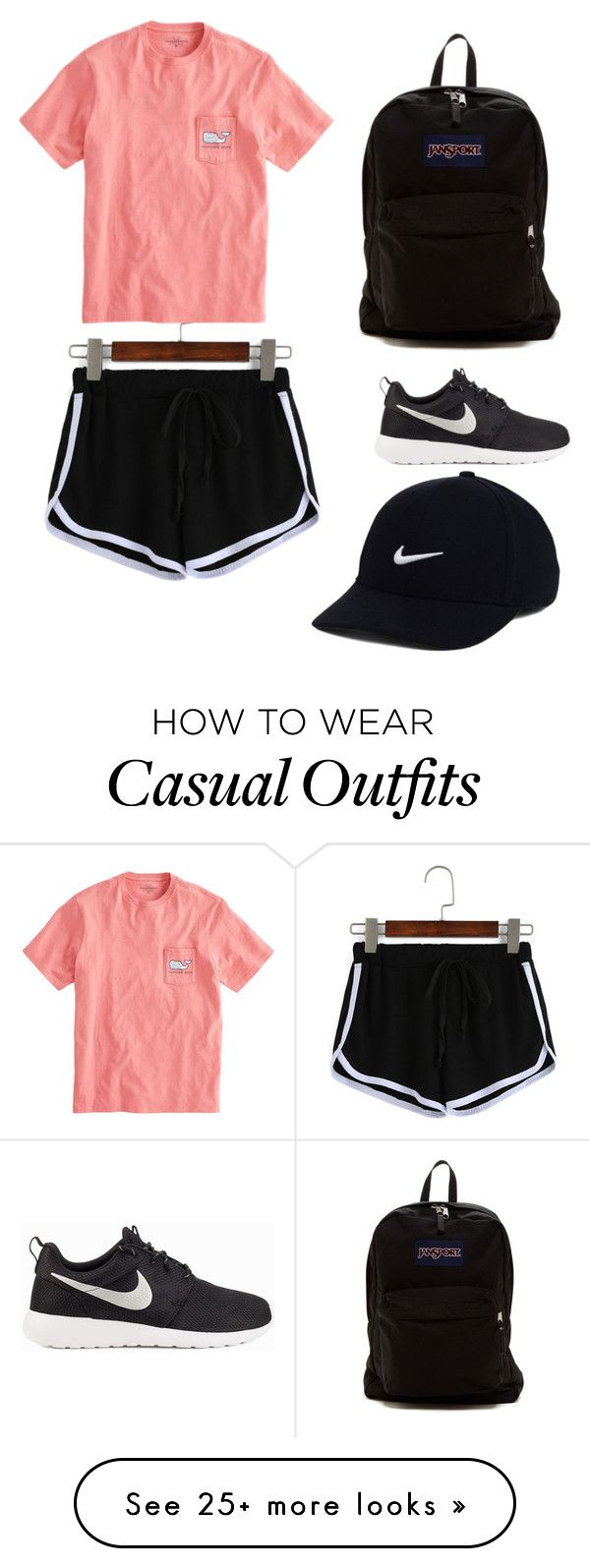 """Preppy Casual"" by ellis9940 on Polyvore featuring JanSport, NIKE, summercamp and 60secondstyle"