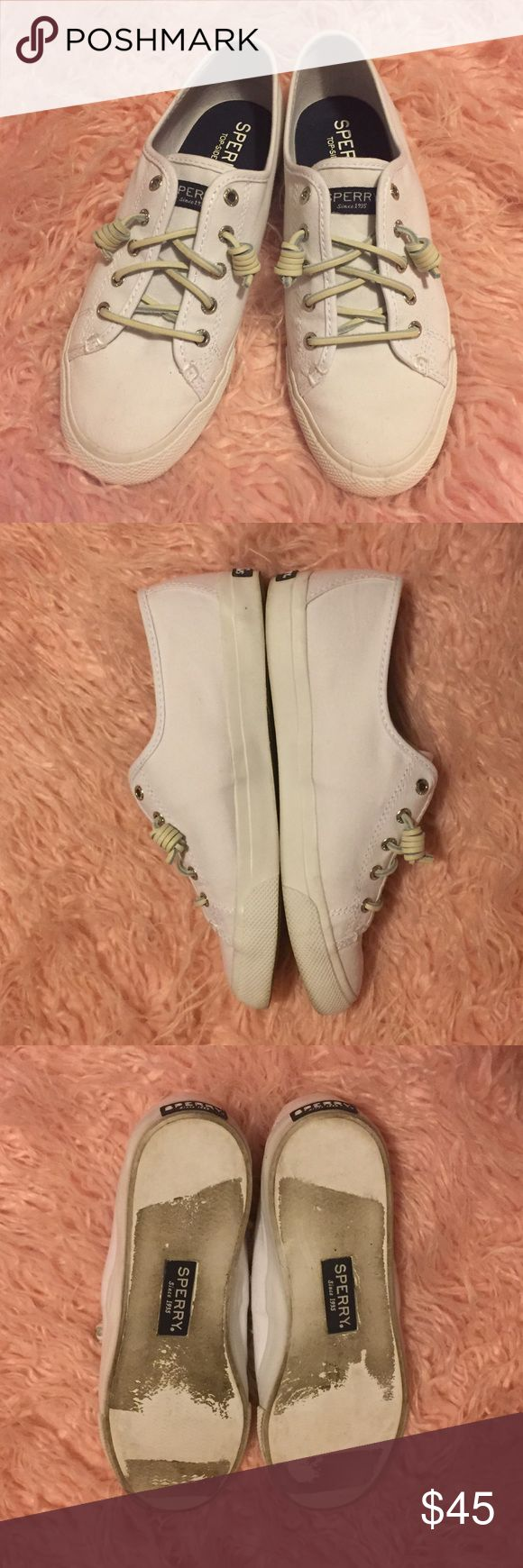 Sperry Top-Sider Sneakers Aside from the bottoms these sneakers are in great condition. The inside is like new! There are a few small scuffs but they are barely noticeable! Sperry Top-Sider Shoes Sneakers