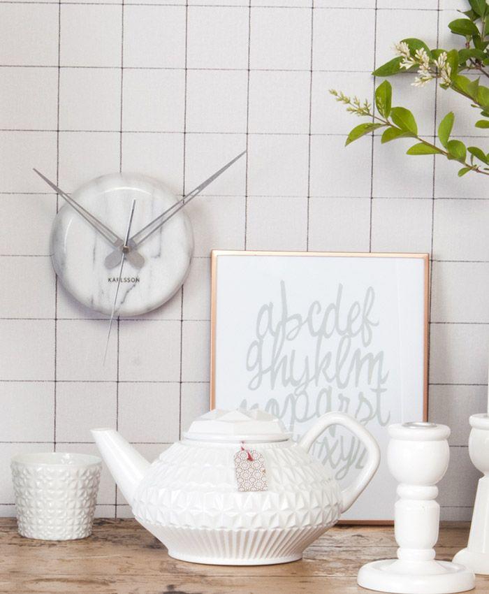 Marble dot clock.