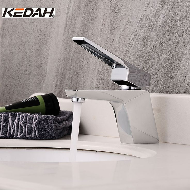 Fabulous KEDAH Short Body Basin Faucets Single Handle Chrome Plated Bathroom Rotate Cold and Hot Water