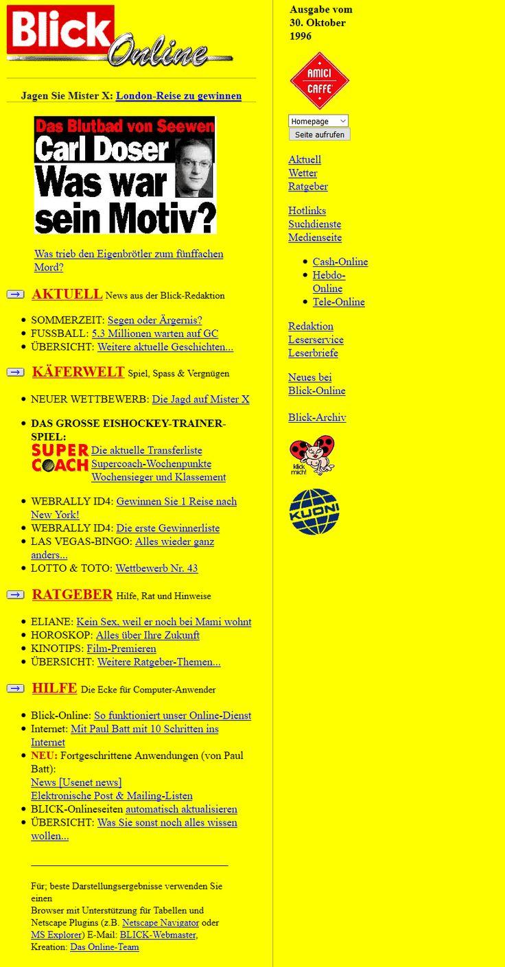 Blick.ch website in 1996