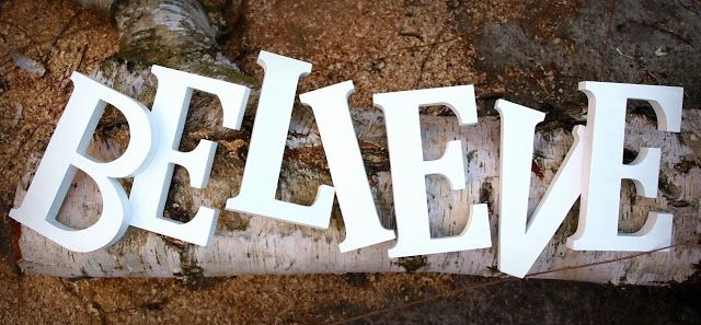 adorable wooden letters made by WOW