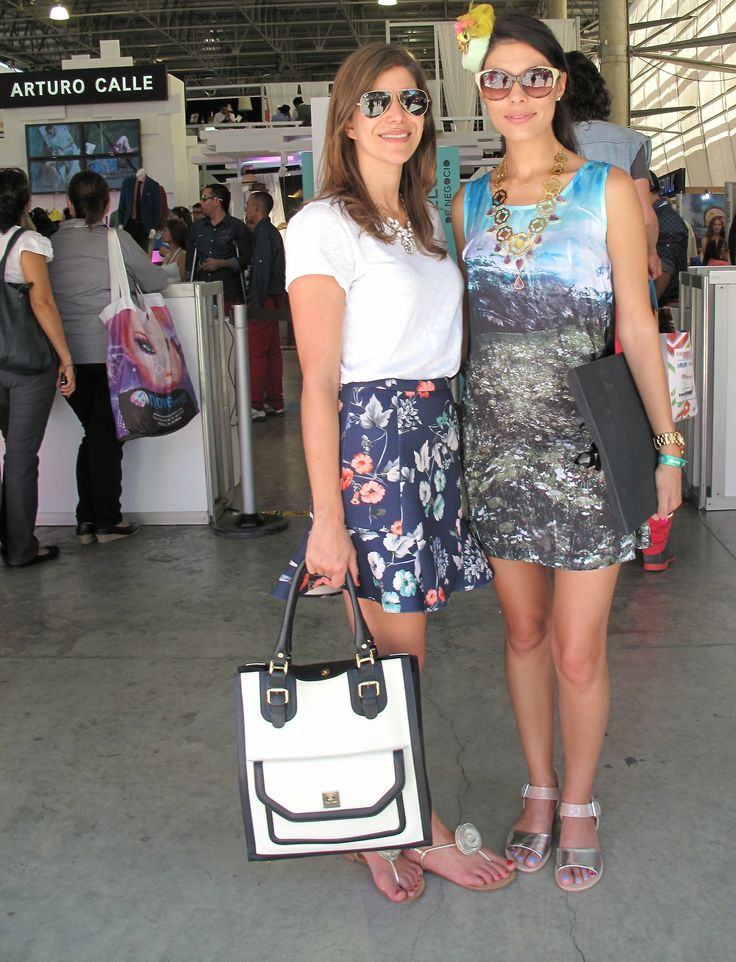 Loren Barake and Ana Buendía at Colombiamoda. Street Style from glamourbites blog.