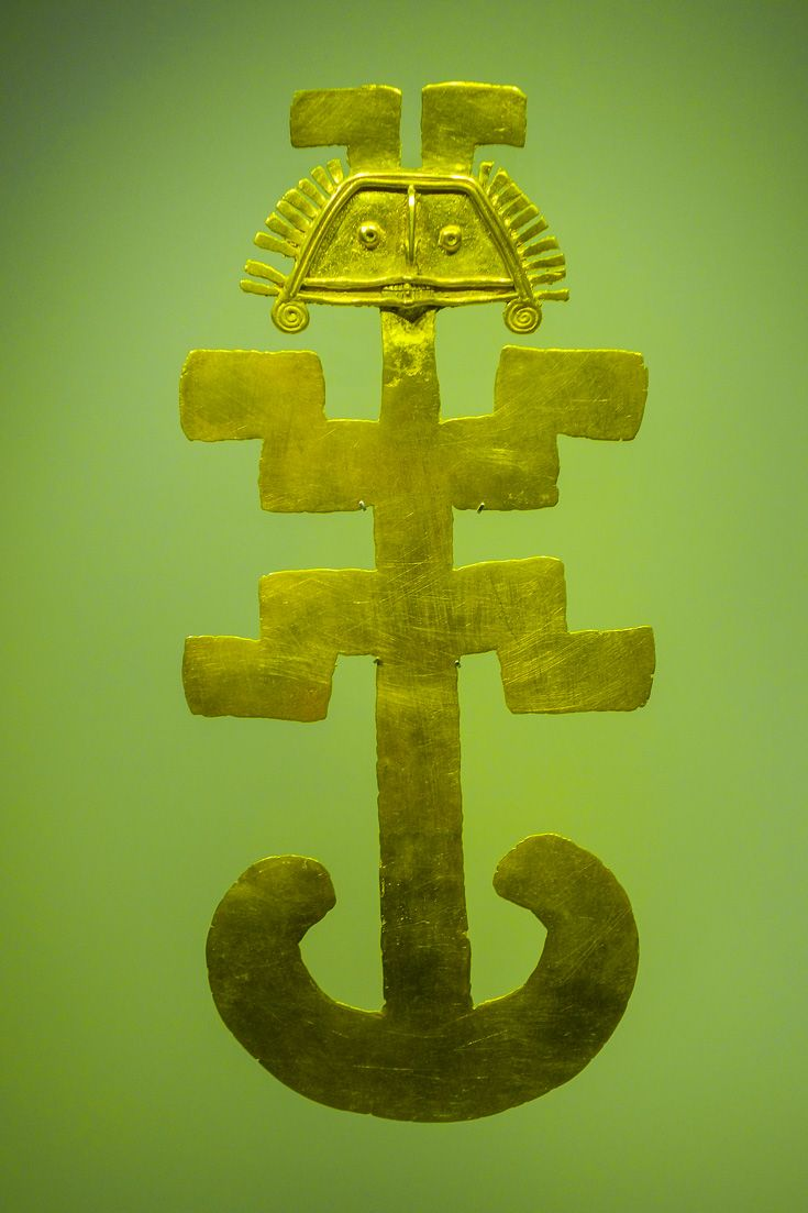 The Gold Museum in Bogotá, Colombia, houses the largest collection of pre-Columbian gold art and jewelry in the world.