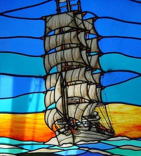 stained glass - ship