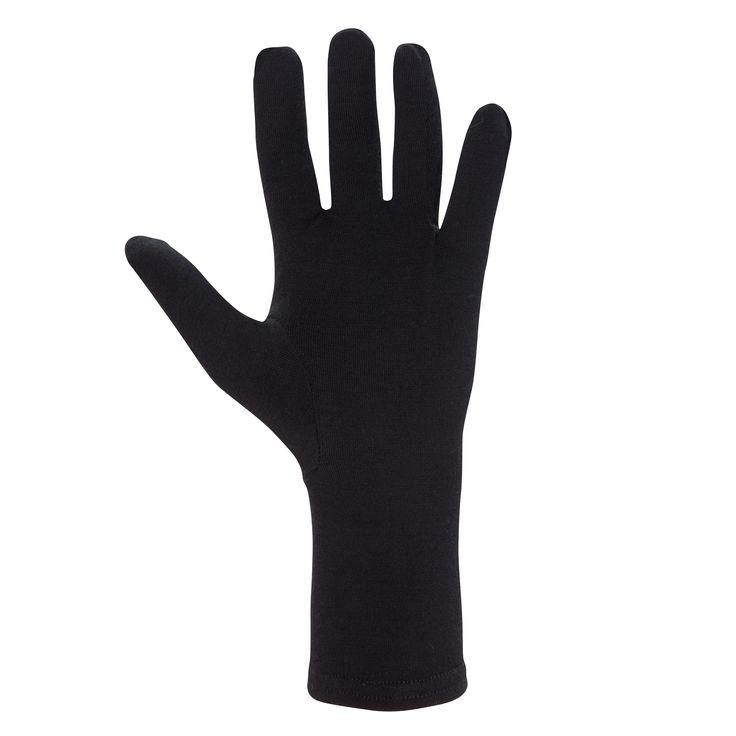 Lightweight insulating stretch Merino glove liner