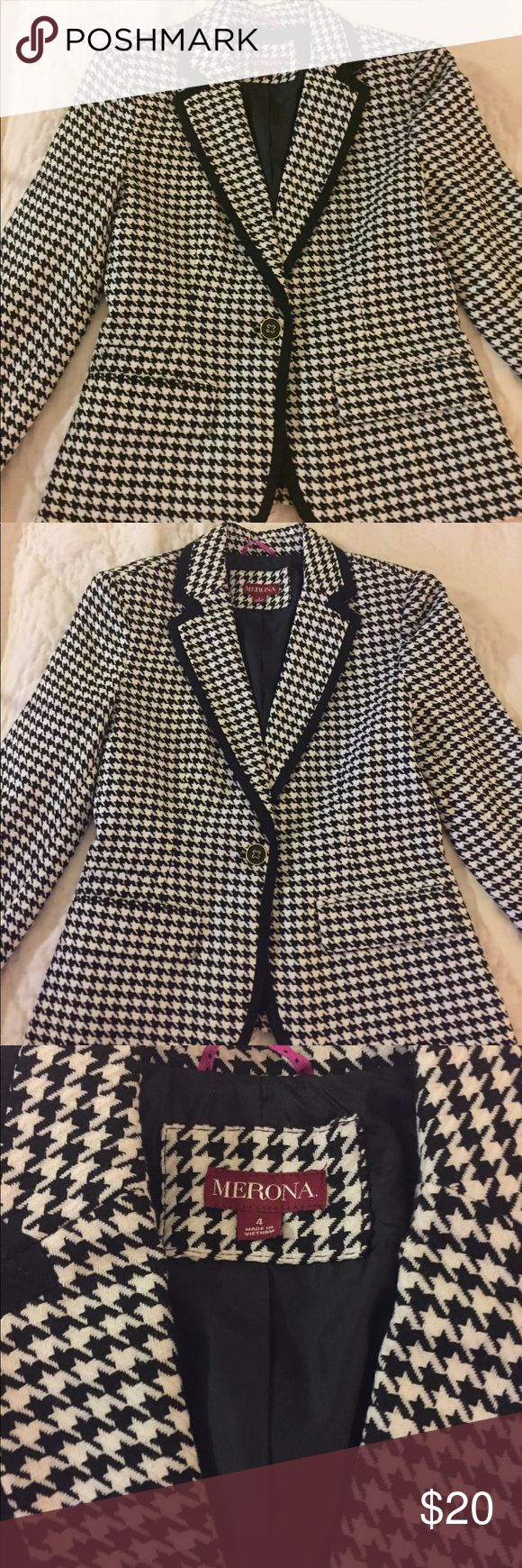 Target- Black and white checkered blazer Super cute black and white checked blazer. Never been worn! Great for work during the day and then head into the evening hours. merona - target Jackets & Coats Blazers