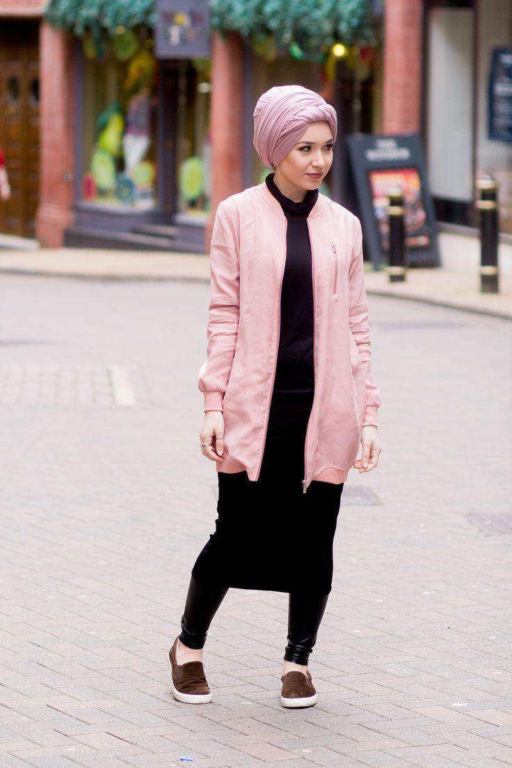 Pink Bomber x Hijab