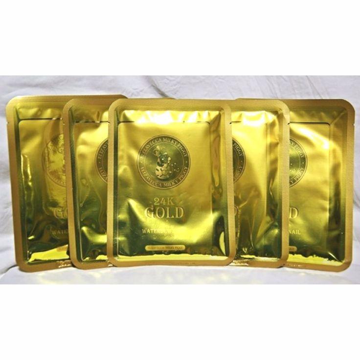 Elizabecca Milky Piggy 24K Gold Water Dew Snail Mask Sheet 5P #Elizabecca