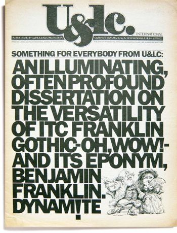 Herb Lubalin, U&lc vol. 4, no. 1, March 1979