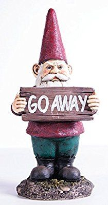 KelKay Go Away Gnome Statue, Mini