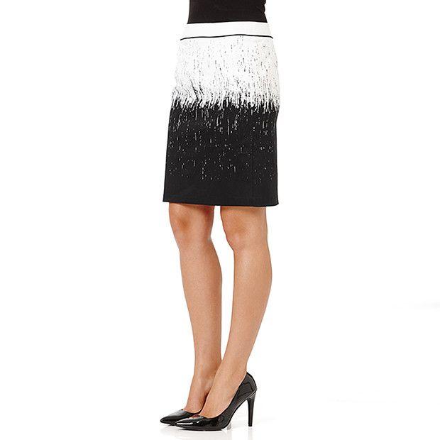 City Dressing Print Pencil Skirt