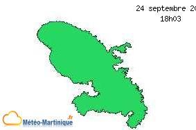 Vigilance météo en Martinique.
