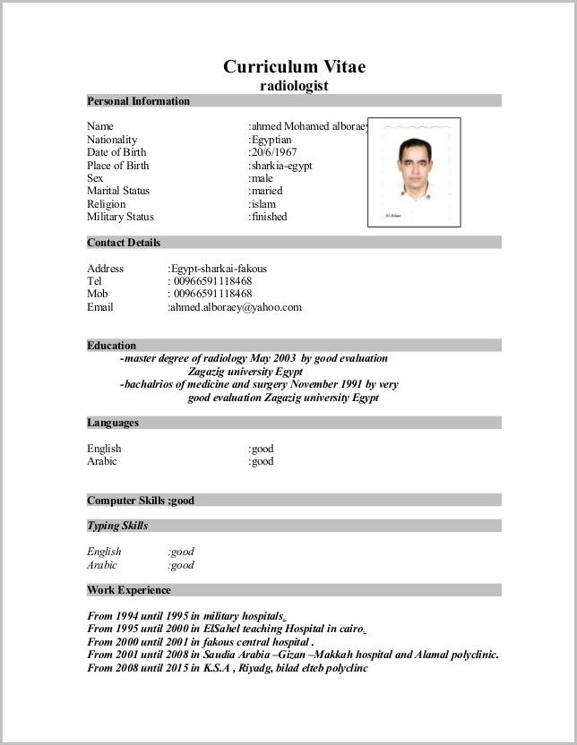 Basic Cv Template Word Resume Template Word Cv Template Word Cv Template