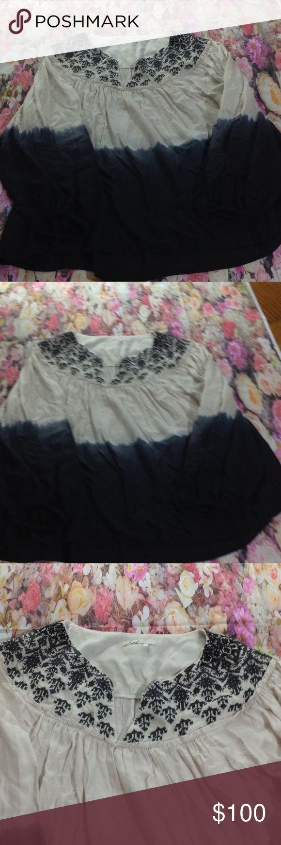 Floreat Peasant Dip dye blouse FLOREAT Peasant Dip Dye Blouse Used Only 1 Time floreat Tops Blouses