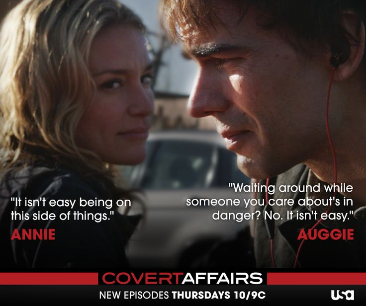 It's never easy when the one you care about is in the field. Catch an all-new episode of Covert Affairs, Thursday at 10/9c.