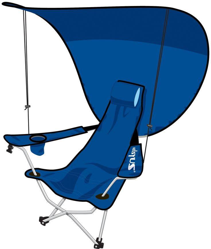 Our popular portable folding chair now with a UV canopy for maximum sun prote