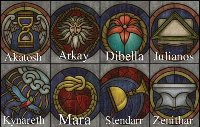 The Eight Divines · The Aedra
