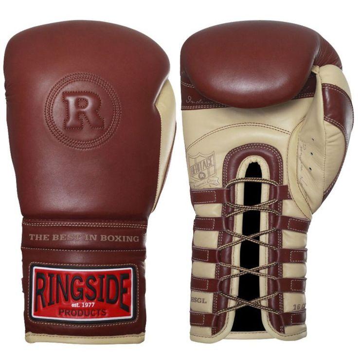 Ringside Heritage Lace Sparring Gloves, Brown