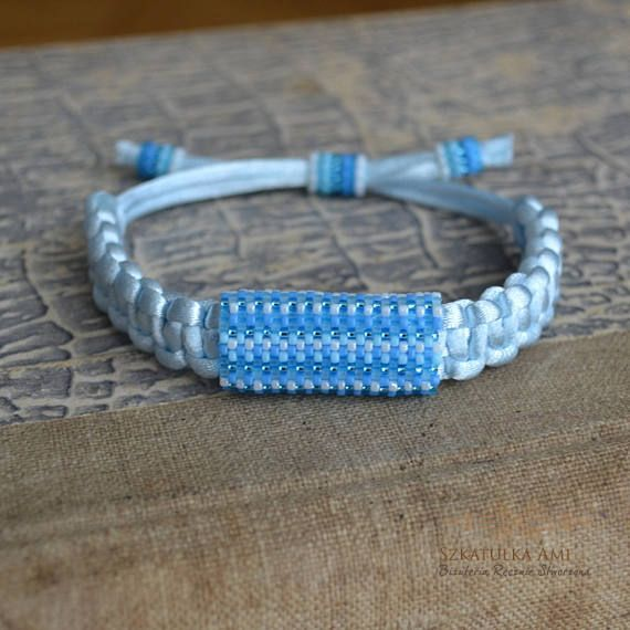 ON SALE Satin string women bracelet Ethnic bracelets shadow