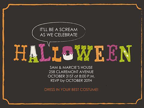38 best Halloween invites images on Pinterest Spooky halloween - halloween invitation template