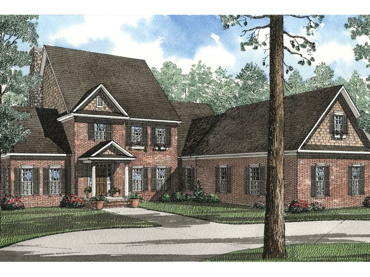 13 best images about exterior house colors on pinterest for Brick colonial house plans