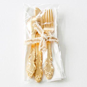 Pretty Plastic Utensils Shiny Gold Shop Sweet Lulu