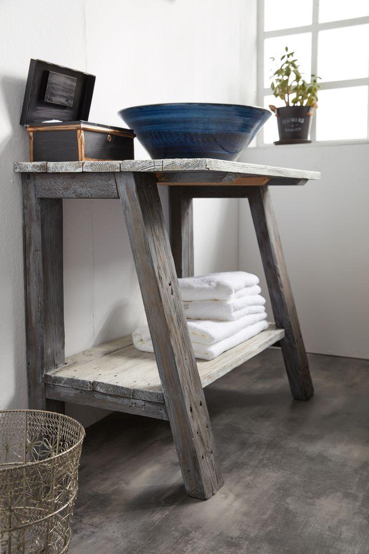 Aπλός σχεδιασμός, rustic style, διαχρονική αξία. Χειροποίητα επιπλα μπάνιου
