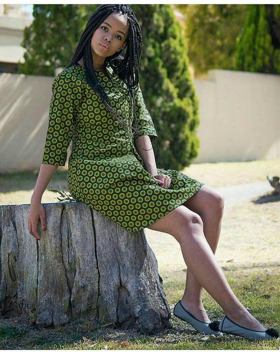 African Print top shirt dress Ankara Ankara dress African