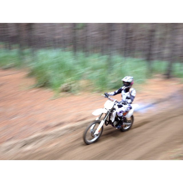 Tearing it up on the YZ80