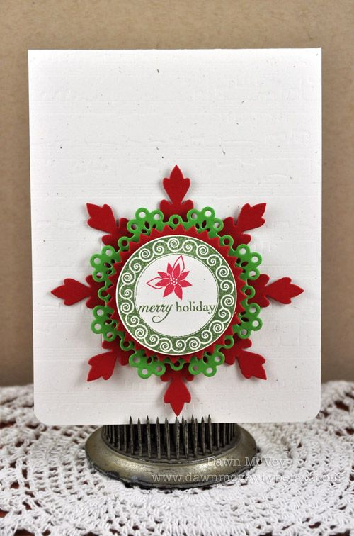 red and green snowflake