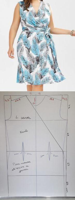 VESTIDO TRANSPASSADO TAM 48 – SIHBLOG // Taika #modelagem, #modelagempassoapas…