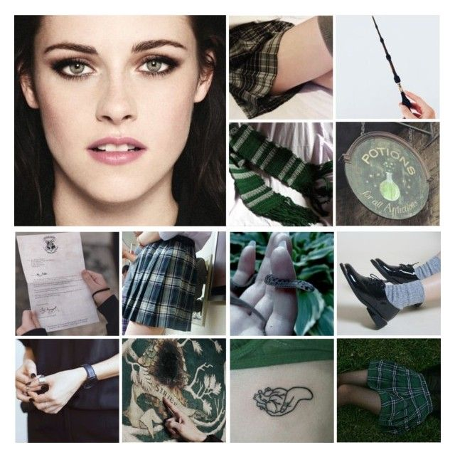 """Fem! Harry Potter (Slytherin)"" by demiwitch-of-mischief ❤ liked on Polyvore featuring art"