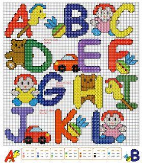 Veve Pontinhos: Monogramas e Alfabetos em Ponto Cruz Part. 5