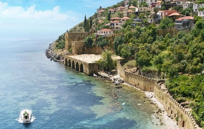 The coastline of Alanya
