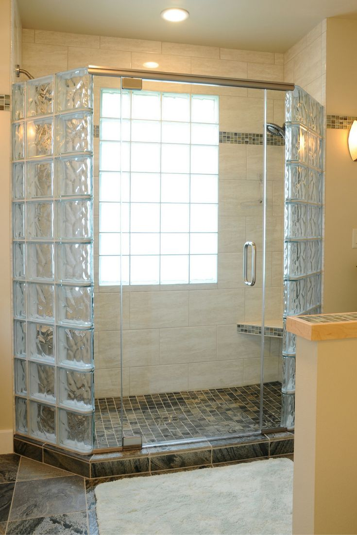 Glass bricks in bathroom - 5 Myths About Anchoring A Glass Block Shower Wall