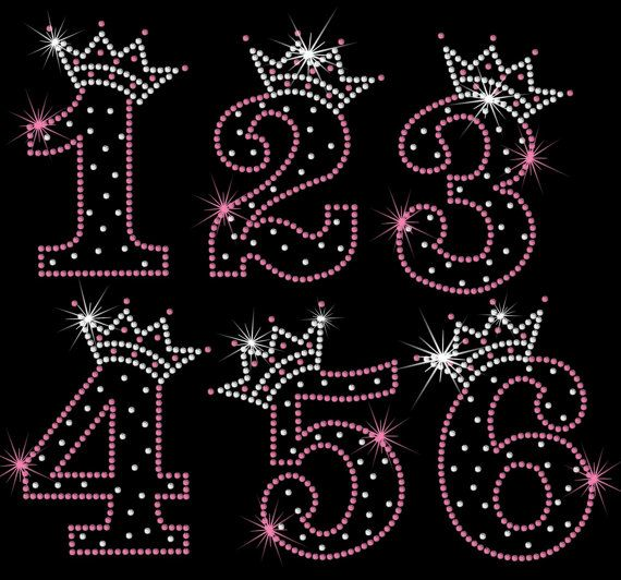 Birthday Number tiara crown iron on rhinestone by MyFairysCloset