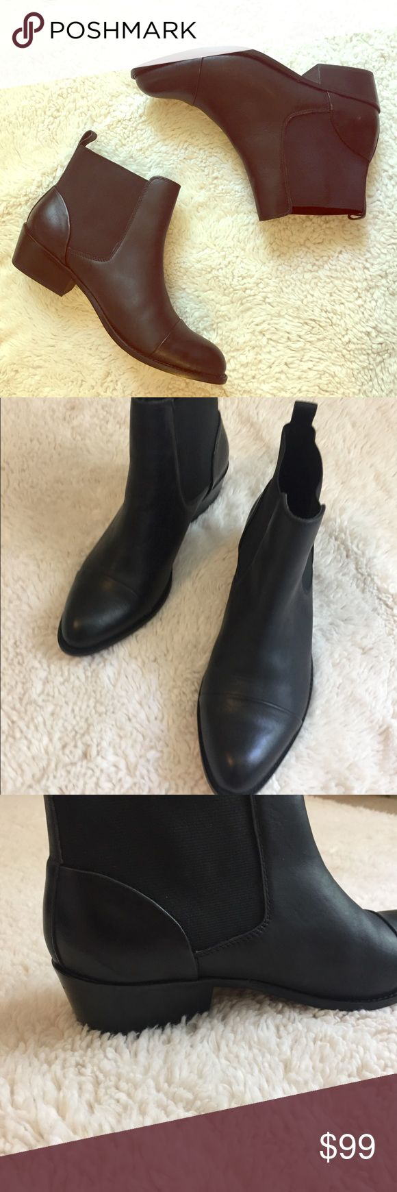 Brand new dolce vita black chelsea boots New black chelsea boots from dolce vita. Real leather, small heel and almond toe. Very sleek silhouette, not clunky at all and even does well in rain. I have never worn these & there is no creasing/sign of wear :) Dolce Vita Shoes Ankle Boots & Booties