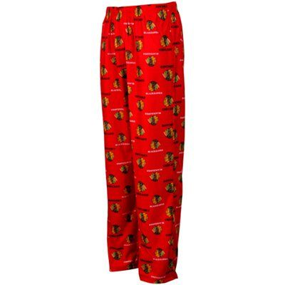 For Ryley! Chicago Blackhawks Youth Allover Logo Flannel Pajama Pants - Red